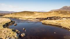 Moorland stream (Joe Dunckley) Tags: uk mountain lake water river landscape scotland highlands pond stream marsh moor bog moraine moorland peatbog rannochmoor scottishhighlands glaciallandscape