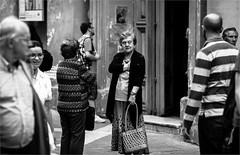 The old woman in black (zilverbat.) Tags: portrait people blackandwhite woman scenery dof image bokeh streetphotography dramatic streetlife streetscene malta portret humans streetshot streetcandid peopleinthecity straatfotografie blackwhitephotos straatfotograaf