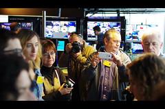 Television Set at European Parliament (Iker Merodio | Photography) Tags: brussels art television set jon european pentax jose sigma parliament bilbao mari prego luis lopez plato gomez amaia gema 30mm k50 gurutz brusela telebista usandizaga goikolea agundez