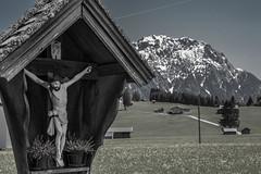 Alm (schulze31) Tags: mountain landscape nikon jesus wiese himmel berge kreuz alm alpen landschaft d800 blumenwiese tamron2470