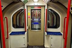 1992 Stock Central Line Interior (2) (LFaurePhotos) Tags: london night train underground interior tube railway symmetrical centralline westlondon upholstery moquette ealingbroadway 1992stock