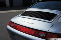 C4GS-30 (Wax-it.be) Tags: blue leather silver low 4 911 glacier porsche midnight mileage coupe carrera c4 detailing silber 993 zilver swissvax waxit