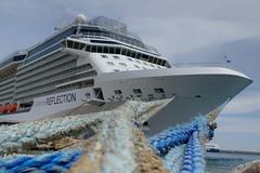 Celebrity Reflection (DirkVandeVelde Back) Tags: sea meer europa europe outdoor zee greece cruiseship rodos rhodos schip europ griekenland celebrityreflection