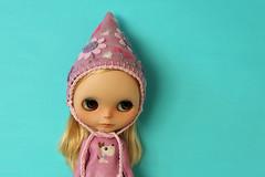New pixie hat (marzipandaizy) Tags: blythe doll hat helmet gnome pixie