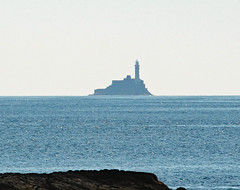 Fastnet rock and lighthouse County Cork Ireland (Dave Russell (1.5 million views thanks)) Tags: light house lighthouse fastnet rock atlantic ocean sea water shore coast coastal navigation beacon south wet county cork ireland eire mizen point outdoor sun sky simply superb