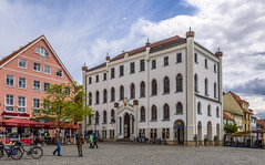 The Town Hall (dietmar-schwanitz) Tags: building architecture germany deutschland architektur townhall marketplace rathaus altstadt oldtown gebude marktplatz lightroom neuermarkt mecklenburgvorpommern mritz waren dietmarschwanitz nikond750 nikonafsnikkor24120mmf40ged