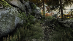 VOEC - 017 (Screenshotgraphy) Tags: bridge sunset mountain lake game nature water colors contrast forest landscape soleil screenshot gare lumire lac ethan steam gaming beaut carter concept paysage vanishing campagne foret beautifull jeu naturelle urbain