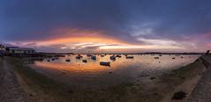 Sandbanks Panorama (Simon Cresdee [www.simoncresdeephotography.com]) Tags: uk sunset sun boats nikon panoramic dorset sandbanks poole 2470mm d810