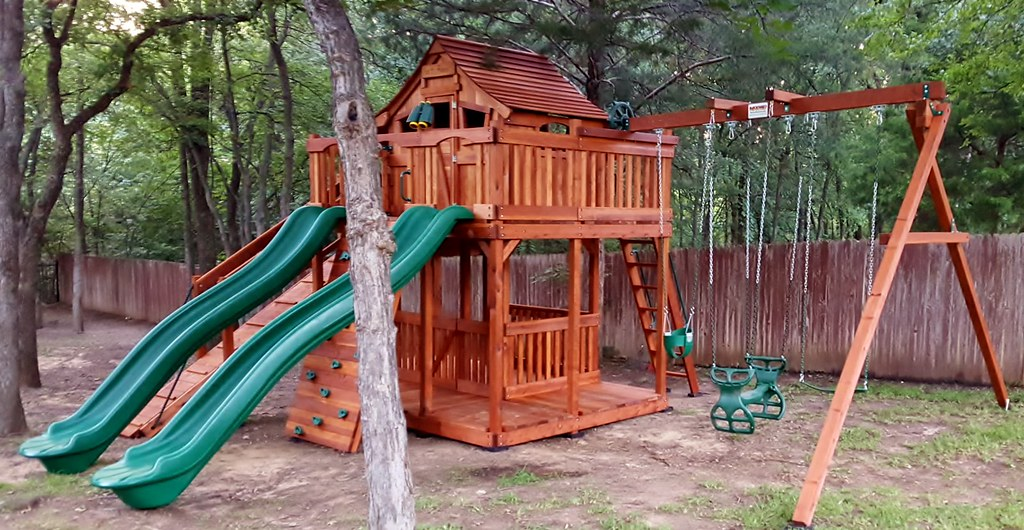 Fort Stockton Swing Set Wrap Around Porch Adventure Ramp (Backyard Fun  Factory) Tags: - The World's Best Photos Of Accessories And Baby - Flickr Hive Mind