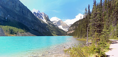 Lake Louise, Banff National Park, Alberta, Canada - ICE(5)388-395 (photos by Bob V) Tags: panorama mountains rockies alberta banff rockymountains lakelouise mountainlake albertacanada banffnationalpark canadianrockies banffpark cans2s mountainpanorama