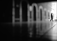F_DSC0295-1-BW-1-Nikon D800E-Nikkor 28-300mm-May Lee  (May-margy) Tags: portrait blur bokeh corridor taiwan arches exit   tiledfloor   reflcetion       yilancounty  repofchina  maymargy nikkor28300mm nikond800e maylee  mylensandmyimagination streetviewphotographytaiwan  naturalcoincidencethrumylens  linesformandlightandshadows  fdsc02951bw1