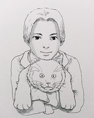 Cat woman  '  '   Kakaotalk : https://goo.gl/3LJ92u LINE : http://goo.gl/j5rKnW #inktober #vscocam #vsco # #art #daily #illustration #illustrator #design #instadaily #drawing #draw #iohohoh #artwork #artist # (iohohoh) Tags: family woman pet art girl fashion illustration cat square design artwork hug dress drawing style squareformat illustrator draw illust stylish             iphoneography instagramapp uploaded:by=instagram