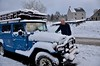 Snow in the beginning of March in the Ardennes [Belgium] (babakotoeu) Tags: car jeep offroad 4x4 toyota land series 40 landcruiser cruiser troopy bj40 40series bj45