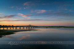 Summer Sunset (betty wiley) Tags: bridge summer reflection clouds creek river kayak capecod massachusetts newengland sandwich tourist boardwalk marsh kayakers bettywileyphotography