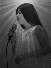 singing angel (Love me tender .**..*) Tags: light people blackandwhite bw music girl monochrome beauty female photoshop portraits stars greek photography europe shadows noiretblanc song femme innocent teenagers athens highschool greece sing singer innocence attica planetearth 2016 dimitra   palaiofaliro   contactgroups  nikond3100 kirgiannaki  dimitrakirgiannaki kopsachila