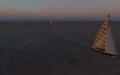 NYC Shields Race - Caitlyn in the lead... (vivipezz) Tags: nyc sailing sl secondlife shields