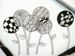 ZenDandelion (syahidhamzah) Tags: art drawing dandelion zentangle zendoodle