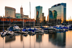 White (tm1126) Tags: city sunset water argentina skyline buildings reflections boat dock buenosaires nikon puertomadero bsas d7100 seleccionbuenosaires