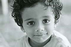 Ibrahim (TayyabTRK) Tags: portrait blackandwhite bw monochrome kids canon 50mm blackwhite kid f18 bnw 650d