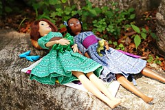 let's dream about the future on this lazy day... (girl enchanted) Tags: ds disney brunette disneystore tangled rapunzeldoll tianadoll theprincessandthefrogdoll