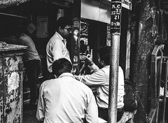 Listen to Me for Once (arkamitralahiri) Tags: old people blackandwhite india monochrome nikon faces streetphotography kitlens streetscene monotone gritty kolkata bengal calcutta