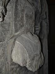 ca. 1265-1276 - 'Hendrik III, duke of Brabant (+1261) and Aleidis of Burgundy (+1273)', Predikherenkerk, Leuven, province of Flemish Brabant, Belgium (roelipilami) Tags: 1265 1276 hendrik iii duke brabant henri henry duc hertog herzog heinrich enrique brabante enrico    1261 1273 aleidis bourgondi alix adelaide bourgogne burgundy adelaida church monument incised slab effigy grafmonument dalle funraire grafplaat grabmal lapida sepulcro tombeau predikherenkerk glise dominicains dominican leuven louvain lovaina mail mailles cotte surcotte surcoat malinkolder kettenhemd hauberk de tombale pierre shield guige