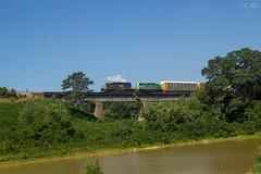 CSX Q235 at River with FURX 3041 (travisnewman100) Tags: railroad georgia emerson wa freight csx autorack manifest emd sd402 furx leaser q235