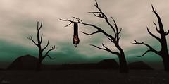 (Bleem Belargio) Tags: hanging upsidedown trees gloomy mysterious vampires sl secondlife spooky