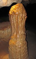 Flowstone-covered stalagmite (Skyline Caverns, Front Royal, Virginia, USA) 1 (James St. John) Tags: skyline caverns front royal warren county virginia ordovician beekmantown group rockdale run formation limestone carbonate limestones carbonates cave caves travertine formations speleothem dripstone stalagmite stalagmites flowstone