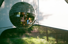 Camp Disco (Georgie_grrl) Tags: camping friends ontario reflections photography shiny social tent pentaxk1000 discoball lakehuron outing diningtent thepineryprovincialpark rikenon12828mm woodlandbs dontyoubringadiscoballwhenyougocamping 4thannualtopwcampingtrip