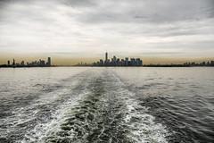 Three Cities (PAJ880) Tags: new york city nyc ferry skyline brooklyn island harbor wake jersey staten