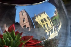 Reflecting in Venice (Crumblin Down) Tags: world city blue venice shadow sky italy panorama white color colour reflection green tower clock church water beautiful st statue skyline square gris mirror climb canal marine san colorful italia pattern ship view display bell mark top basilica library military navy lion sailors grand arches books panoramic belltower clocktower marks campanile most tables marco gondola colourful venezia viewing overhead verdi amerigo vespucci
