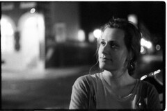 GinaLeicaM6SummaritDelta050 (Johnny Martyr) Tags: leicam6ttl leica leitz leitz5cm15summarit 50mm 15 35mm film bw blackandwhite boke bokeh composition face portrait candid considering thoughtful thinking street rangefinder ilforddelta3200 6400 iso kodakhc110 dim light availablelight existinglight no flash noflash documentary photojournalism true truth real moment unstaged unposed grainy grain frederick ginamoxley maryland