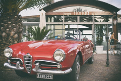 Old style (p$ychoboyJ@ck) Tags: old sea italy car vintage seaside italia florida liguria streetphotography style since alfa romeo 1956 1950 noli giulietta bagni