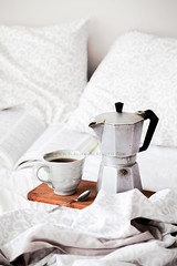 Coffee in bed (Flavia Morlachetti Photography) Tags: light cup coffee breakfast bed coffeecup tray nordic coffeemaker linens foodphotography foodstyling foodphotographer flaviamorlachetti
