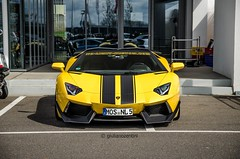 No Limit Custom (Giuliano Zentini) Tags: lamborghini aventador lp7004 lp700 v12 roadster nolimitcustom yellow striped bull italian