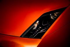 Sharp Edges (GlennPope) Tags: orange color colour car closeup austin us automobile texas exterior unitedstates hood headlight lamborghini supercar hdr gallardo sportscar