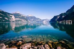 Urnersee (christianreimer) Tags: lake mountains alps reflections landscape schweiz see berge alpen landschaft ch uri reflektionen flelen