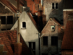 Old Ghent (Stan Farrow Photography) Tags: yards buildings back belgium bricks roofs ghent