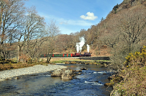 Prince and Palmerston on the Welsh Highland Railway 2nd May