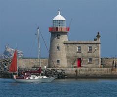 Danse Du Feu       Howth Harbour         County Dublin     Ireland (Flame1958) Tags: ireland sea howth dublin lighthouse water boat sailing ship harbour boating sailor countydublin irishsea howthharbour 0613 050613 codublin 2013 dansedufeu