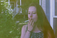 (hayyyleyy) Tags: film girl canon ae1 superia cigarette grain smoking 400 fujifilm