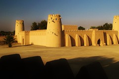 Al Ain (iTimbo61) Tags: travel travelling tower architecture al sand ancient war desert fort military uae middleeast olympus arab arabian fortification om1 unitedarabemirates battlements ain e500 travelphotography olympuscameras