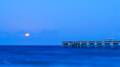 Super Moon over Juno (apilnick) Tags: ocean moon pier florida omd supermoon