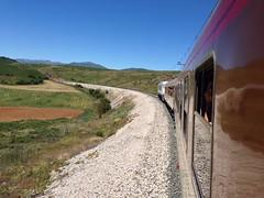 Tren de los 80 AAFM (7 Julio 2013) (hardtonic84) Tags: azul tren 7100 amarillo gato coche gata cama 80 estrella 9000 locomotora montes renfe 9600 literas furgn equipajes aafm 269604