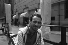 carpi, caff (Davide Ciriello) Tags: bw white black film coffee 35mm germany 2000 action super iso german 400 epson cousin v600 caff yashica germania carpi cugino tedesco fomapan fx3