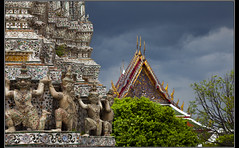 Pagoda at Wat Arun (Dune_UK) Tags: travel eye art look rain clouds liverpool joseph thailand temple pagoda blog asia different photographer image sale bangkok sold south east photograph frame wife latex wat seen strom arun glynne pritchard scouser