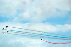 The Red Arrows (Cissa Rego) Tags: uk england sky nature plane airplane landscape army cool military adventure airshow helicopter dorset seafront bournemouth redarrows bournemouthpier royalairforce bournemouthbeach bournemouthgardens bournemouthairshow