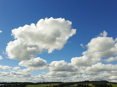 View from SW of the Hill of Alyth. (Shandchem) Tags: blue sky clouds scotland hill perthshire cumulus alyth