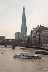 The Shard (ADTeasdale) Tags: uk england london skyscraper river boat millenniumbridge riverthames 2013 canonef24105mmf4lisusm theshard canoneos6d andrewteasdale adteasdale